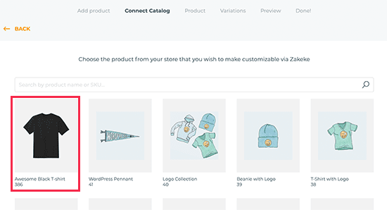 set up product page on woocommerce