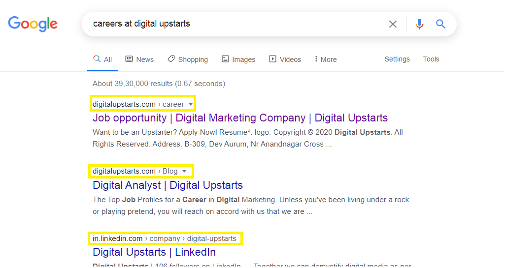 here's how breadcrumb navigation looks in google search results