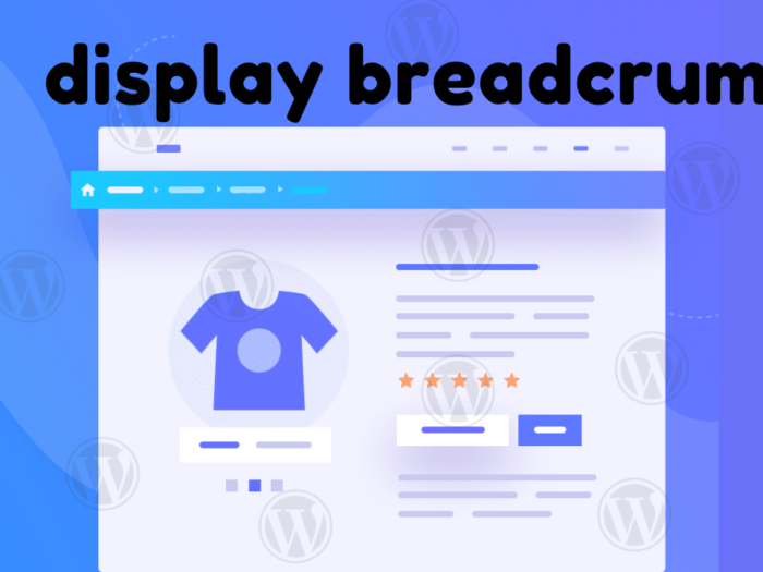 how to display breadcrumb