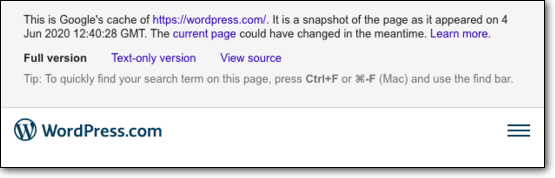 Restore Deleted Pages or Posts Using Google's Cache