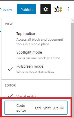 wordpress editor manual process