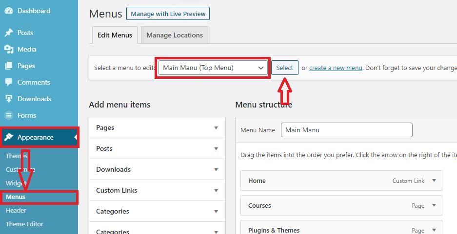 add nofollow links through wordpress menu