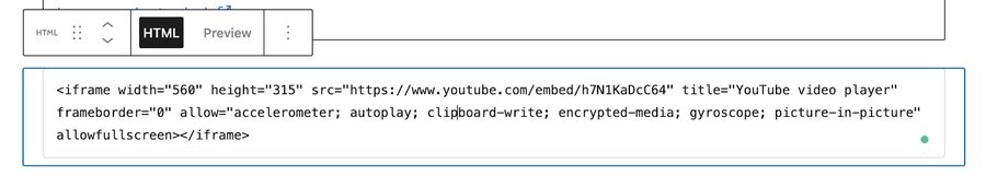 custom html code in wordpress