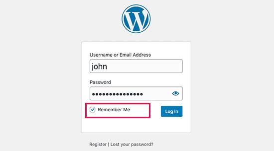 remember me login password saver on wordpress