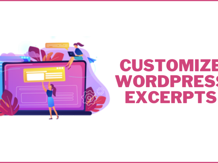 how to customize wordpress excerpts