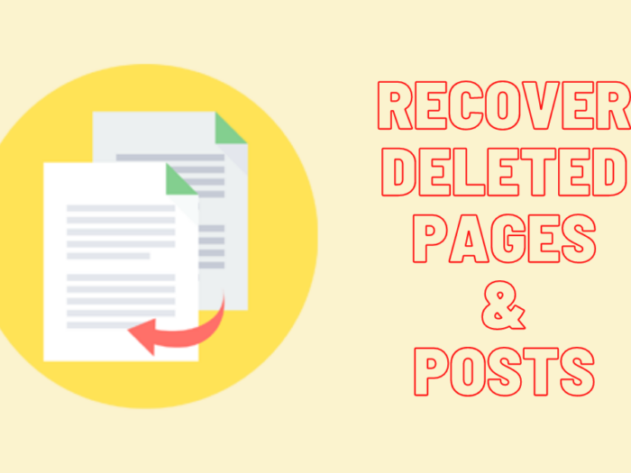 how to recover deleted pages or posts