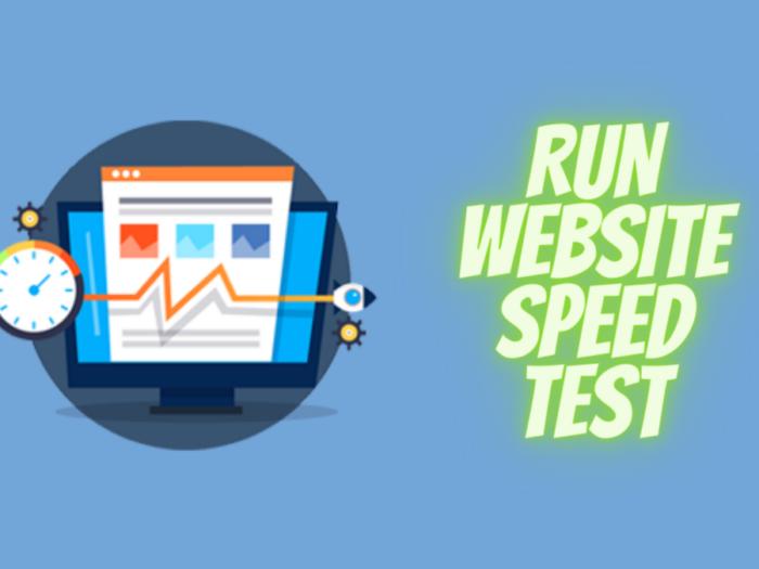 how to run website speed test